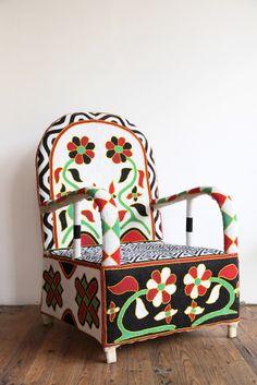 Beaded Yoruba Chair | Beautiful Dreamers