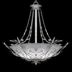 """Swarovski Paris Flea Silver 25"""" Wide Pendant Light"""