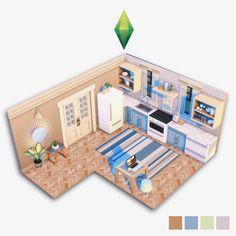 Building Games 9710955434482622 - image Source by idontknowc Sims Building, Building Games, Sims 4 Kitchen, Sims 4 House Plans, Sims 4 House Design, Sims Free Play, Casas The Sims 4, Sims 4 Build, Sims 4 Game