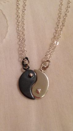 Sterling Silver Yin Yang Necklaces for by CopperfoxGemsJewelry