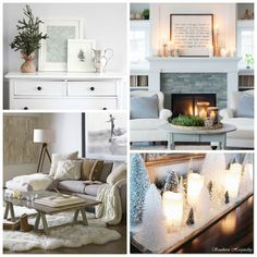 Clean Cozy Neutral Winter Decorating Ideas - The Happy Housie
