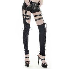 Hose mit Beinstulpen im Straps Holster Look Gothic Festival, Steampunk, Stockings, Accessories, Fashion, Small Trailer, Thigh, Legs, World