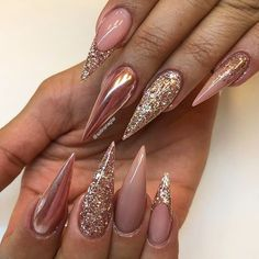 18 Nude Nails Designs for a Classy Look ★ Beautiful Glitter Nude Nails Designs Picture 2 ★ See more: http://glaminati.com/nude-nails/ #nudenails #nudenailsdesigns