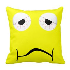 Hangover Pillow for you at www.zazzle.com/superdumb #zazzle #pillow #hangover