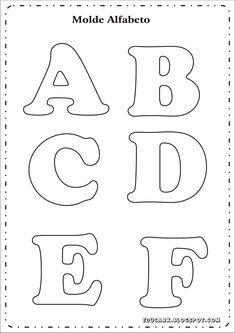 Risultati immagini per as letras do alfabeto para imprimir Alphabet Letter Templates, Printable Letters, Felt Patterns, Applique Patterns, Felt Crafts, Diy And Crafts, Lettering, Bubble Drawing, Bubble Letters