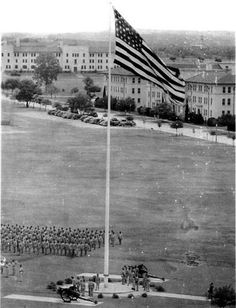 """Old Glory"" flying over Fort Sam Houston, San Antonio, Texas"