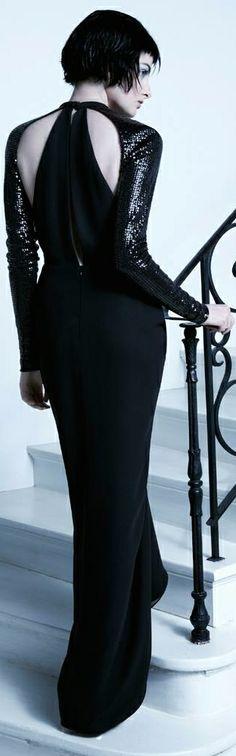 Parisan Mademoiselle by Carla Zampatti. Black Is Beautiful, Beautiful Gowns, Jumpsuit Dress, Dress Up, Fancy Dress, Carla Zampatti, Black Magic Woman, Black Tie Affair, Glamour