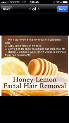 Natural Hair Removal. Wonder if it really works - worth a try....
