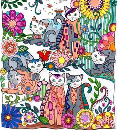 Original drawing from Creative Cats by Marjorie Sarnat