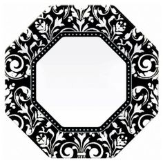 Formal Affair Octagon Dinner Plates - card and party outlet spreadsheet discount Yellow Bridal Showers, Villains Party, Disney Villains, Pink Table, Green Table, Discount Party Supplies, White Damask, Party Tableware