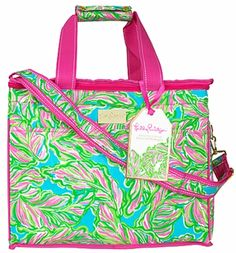 Lilly Pulitzer In The Bungalows Insulated Cooler Tote