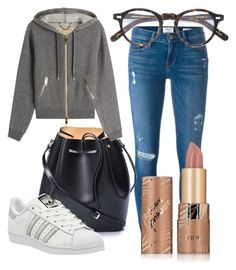 """""""Good Day"""" by urban86 ❤ liked on Polyvore featuring Frame Denim, N°21, Burberry, adidas, Moscot and tarte"""