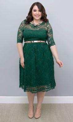 Emerald plus size dress