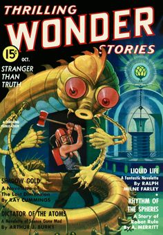 Sci Fi Thrilling Wonder Stories Featuring Shadow Gold