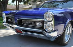 1967 Pontiac GTO - love the color on this.