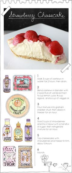 The Vegan Stoner's Strawberry Cheesecake