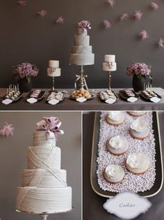 Gray and Lavender Dessert Spread by Amy Atlas. Photography By / http://johnny-miller.com, Styling   Direction By / http://blog.amyatlas.com