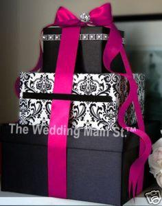 Wedding card box idea Photo via Project Wedding Card Box Wedding, Diy Wedding, Wedding Events, Wedding Reception, Dream Wedding, Wedding Ideas, Weddings, Purple Wedding, Wedding Colors