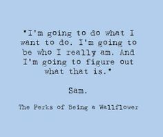 the perks of being a wallflower quote by sam