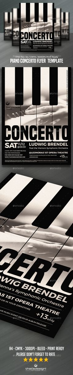 Jazz Flyer \/ Poster Template Jazz concert, Concert flyer and Jazz - black and white flyer template