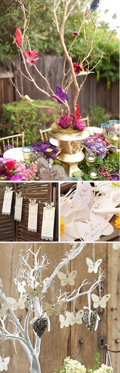 Decoracion de boda con mariposas