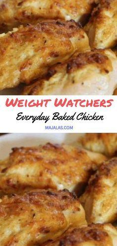 Everyday Baked Chicken // #WeightWatcher #Healthy #SkinnyRecipes #Recipes #Smartpoints #Baked_Chicken #LowCarb #WeigthWatchersRecipes #weightwatchersdesserts