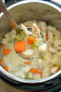 This Instant Pot chicken and dumplings recipe is incredible! Just 20 minutes to the best pressure cooker chicken recipe ever, and the ultimate comfort food.