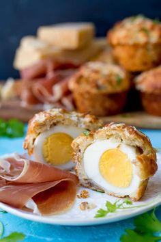 Grana Padano and Egg Stuffed Muffins With Prosciutto di San Daniele