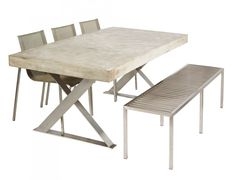 outdoor dining table base photo - 4