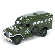 """WWII Dodge Military Police, Battle Scarred Version, """"The Greatest Generation,"""" Johnny Lightning Battle Scars, Farm Toys, Case Ih, New Holland, Military Police, Us Army, Wwii, Diecast, Dodge"""