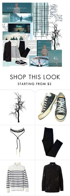 """BTS Spring Day MV"" by ninaxo17 on Polyvore featuring Converse, PAM, J Brand and Banana Republic"
