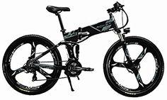 Eléctrico plegable para bicicleta de montaña para bicicleta MTB rt860250W * 36V * 8Ah 26, doble suspensión 21speed Shimano dearilleur LG células de la batería doble freno de disco, color gris Bike Mtb, Bicycle, Cycling, Vehicles, Color, Mountain Bike Trails, Gray, Bike, Biking