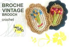 Como hacer un broche vintage de crochet