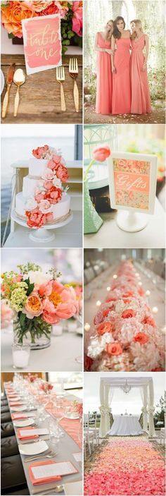 45 Coral Wedding Color Ideas You Don't Want to Overlook   http://www.deerpearlflowers.com/45-coral-wedding-color-ideas-you-dont-want-to-overlook/: #CoralWeddingIdeas