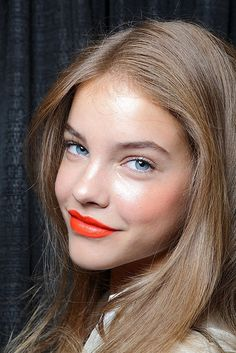 Tangerine isn't limited to your wardrobe, try adding the fun summer hue to your lips for a fresh new look