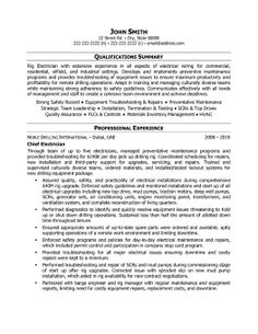 23 Best Trades Resume Templates Amp Samples Images In 2013