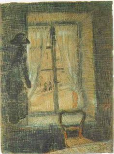 Vincent van Gogh: The Drawings. Window in the Bataille Restaurant. Paris February-March 1887. Van Gogh Museum, Amsterdam.