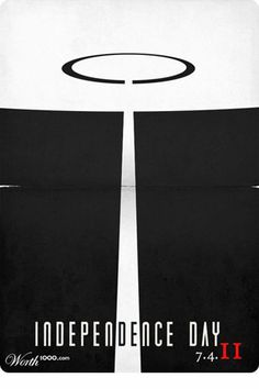 Independence Day | THE 30 BEST FILM POSTERS MINIMALIST CULTS