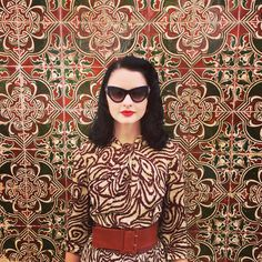 Trying to blend in...#moodoftheday #tiles #print #vintage #40s Lisbon, Portugal