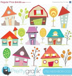 40-60% OFF House clipart commercial use, vector graphics, digital clip art, digital images - CL397