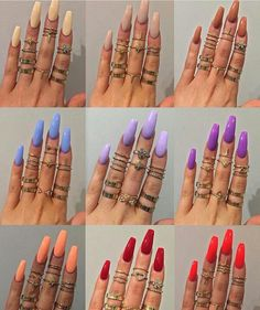 How to choose your fake nails? - My Nails Dream Nails, Love Nails, My Nails, Best Acrylic Nails, Matte Nails, Tumblr Acrylic Nails, Acrylic Spring Nails, Gorgeous Nails, Pretty Nails