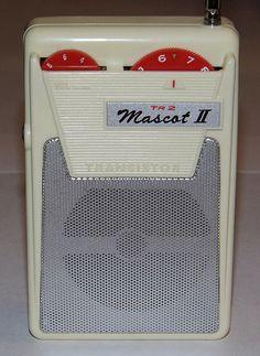 Vintage Mascot II 2-Transistor Radio, Model TR 2, Made in Japan.