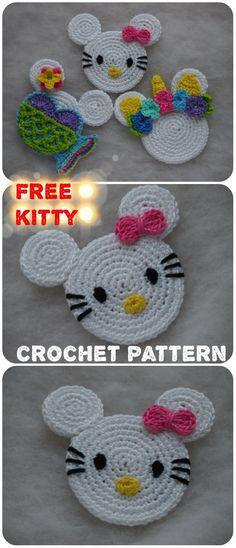 Crochet Toys Patterns, Stuffed Toys Patterns, Knitting Patterns, Crochet Tutorials, Crochet Ideas, Crochet For Kids, Free Crochet, Knit Crochet, Crochet Flower