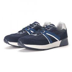Ανδρικά μπλε sneakers από συνδυασμό υφασμάτων it020618-20   Fashionmix.gr Sneakers, Denim, Shoes, Fashion, Tennis, Moda, Slippers, Zapatos, Shoes Outlet