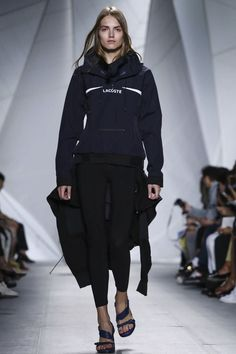 Lacoste Ready To Wear Spring Summer 2015 New York Live Fashion, Fashion Show, Fashion Week 2015, Spring Summer 2015, Lacoste, Runway Fashion, Adidas Jacket, Ready To Wear, Fashion Photography