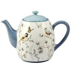 Certified International Country Weekend 40-ounce Teapot, Blue Heure Du Thé,  Vaisselle, d236d161c9af