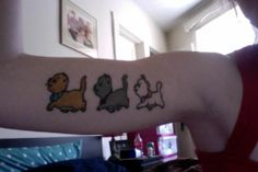 """Aristocats tatto. I think it would be cool if I could convince my two brothers to get these cats on them. I would get the girl kitty of course. """"Because I'm a lady"""""""