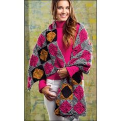24 Crochet Patterns Shawls Baby Afghan Ladybug Purse Doilies World February 2014
