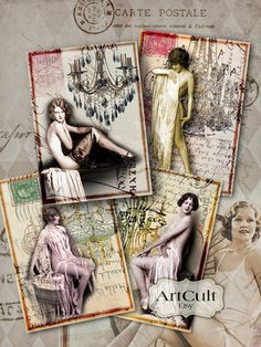 Printable Download LADIES AND CHANDELIERS Gift Tags and by ArtCult