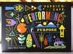 PepsiCo Café | Erik Marinovich | woudl be great to heave wall murals like this.